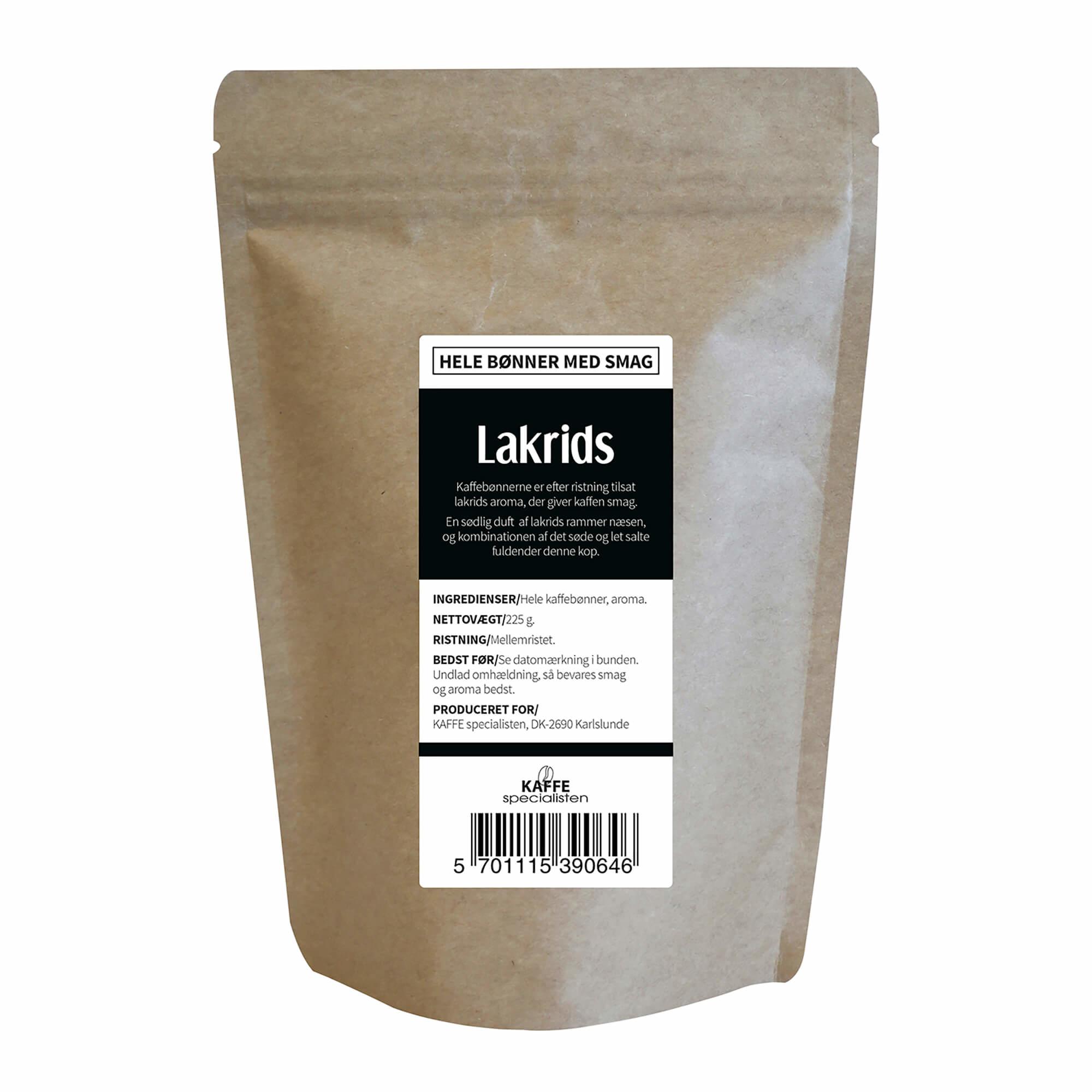 KAFFE Specialisten Kaffebønner Lakrids Smag