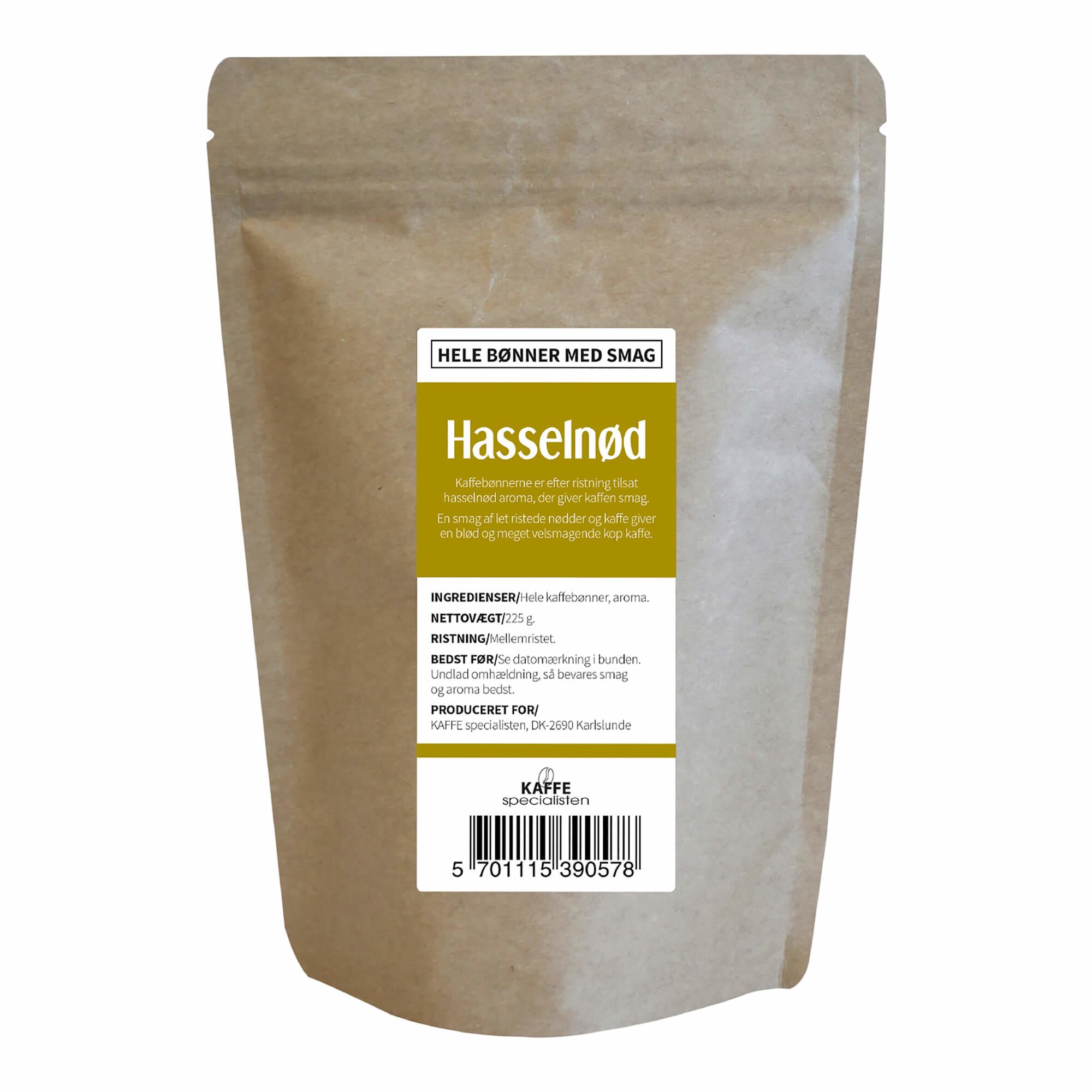 KAFFE Specialisten Kaffebønner Hasselnød Smag