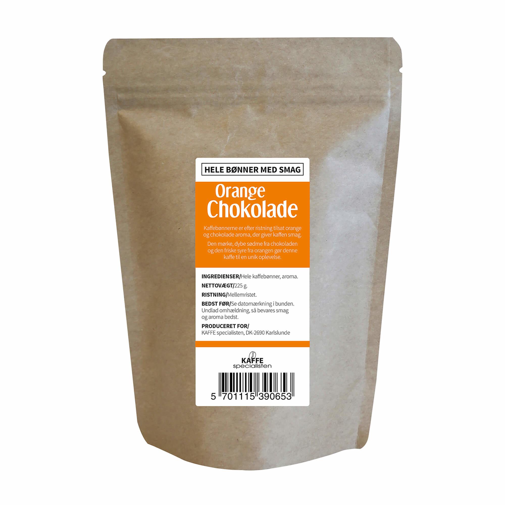 KAFFE Specialisten Kaffebønner Choko Orange Smag