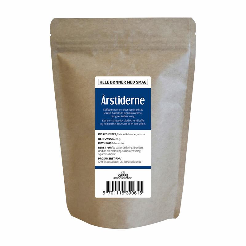 Hele kaffebønner med Årstiderne smag fra KAFFE Specialisten