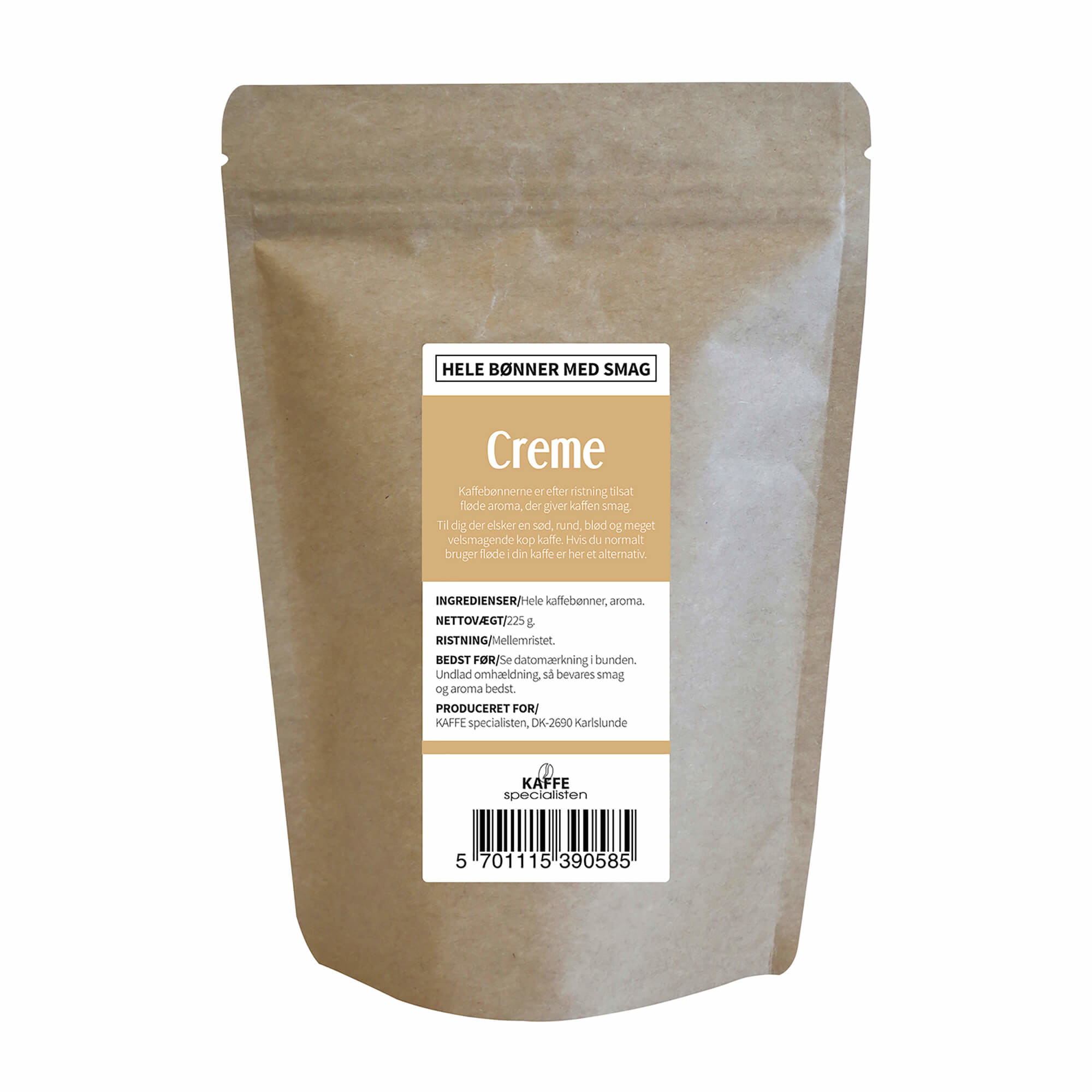 KAFFE Specialisten Kaffebønner Creme Smag
