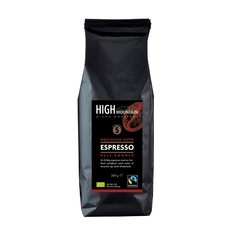 High Mountain Espresso - 200 gram hele kaffebønner