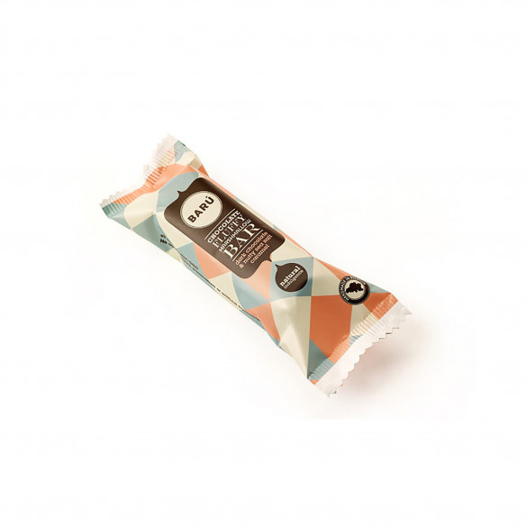 Dark Chocolate & Nutty Seasalt Caramel Bar fra Barú - 30 gram