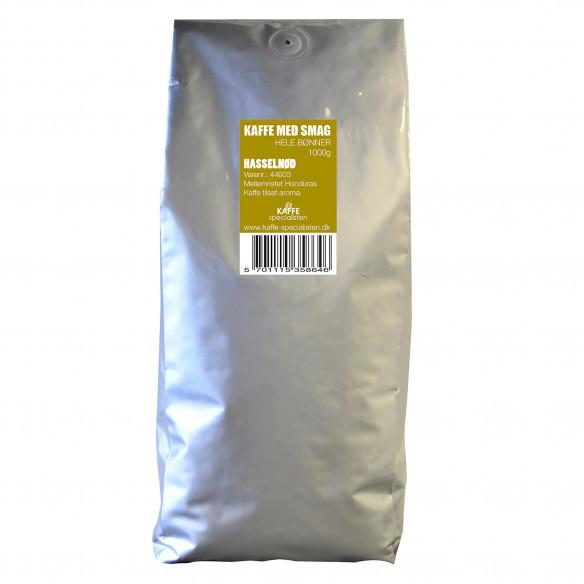 1 kg Kaffebønner med Hasselnød smag fra Kaffe Specialisten