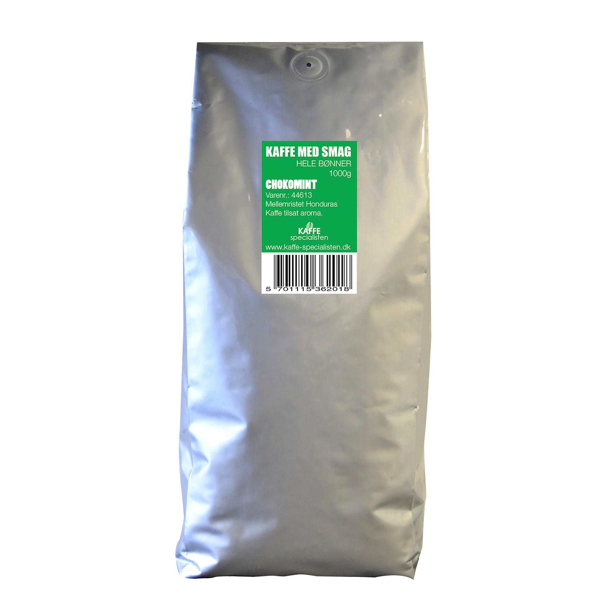 KAFFE Specialisten Kaffebønner Choko Mint Smag