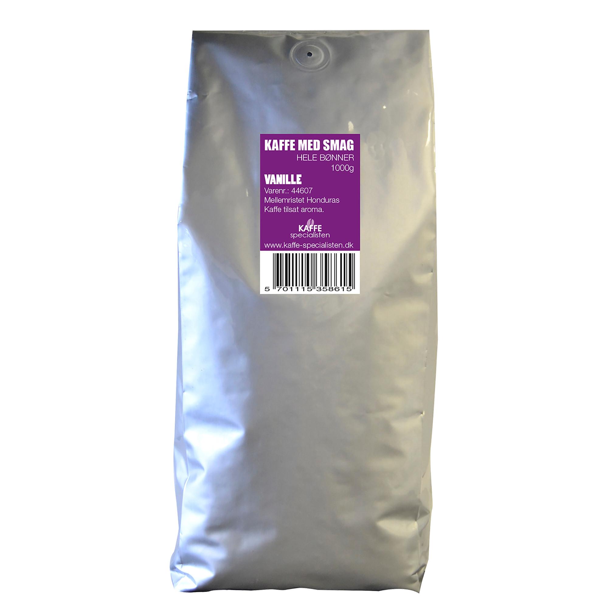 KAFFE Specialisten Kaffebønner Vanilje Smag