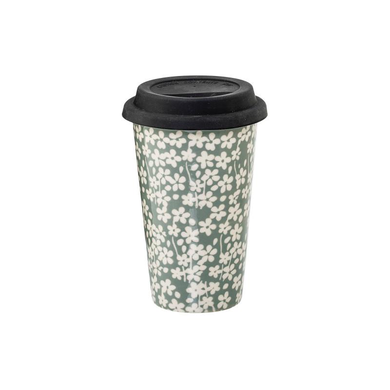 Mørkegrøn Seeke Kop m. Låg fra Bloomingville - 400 ml