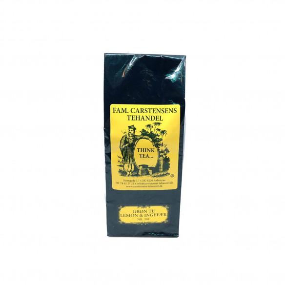 Grøn Lemon & Ingefær, 100 gram fra Carstensens Tehandel
