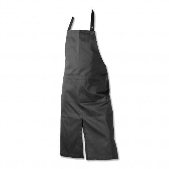 Forklæde m/ lomme, dark grey - The Organic Company