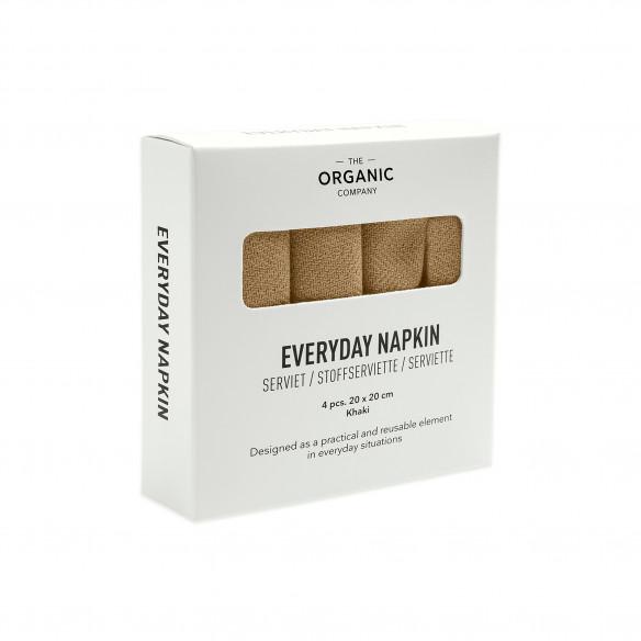 Hverdagsserviet, khaki - The Organic Company