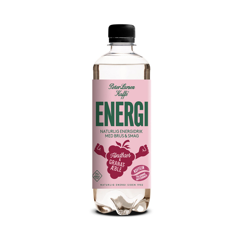 Energi Hindbær & Granatæble (500 ml) fra Peter Larsen Kaffe