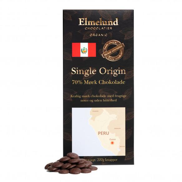 Elmelund Peru 70% Mørk Chokolade - 200 gram