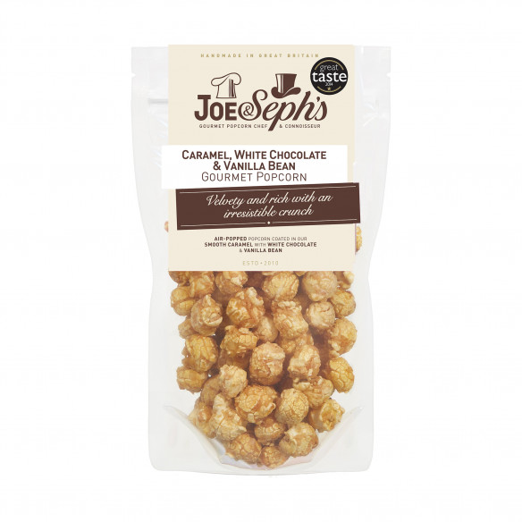 Caramel, White Choc & Vanilla Bean Popcorn - Joe & Seph's
