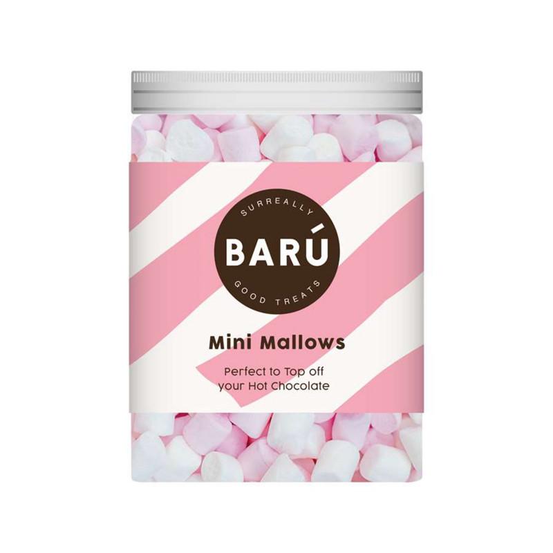 Dåse med 220 gram Mini Mallows fra BARÚ - perfekt til topping i din varme kakao