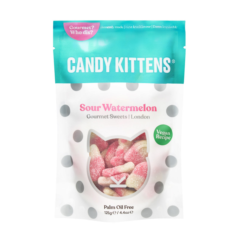 Candy Kittens Sour Watermelon - 125 gram