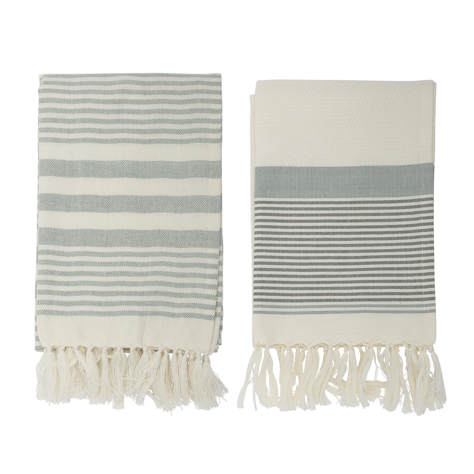 Billede af Loke håndklæde, Grøn - 180x100 cm (2 stk)
