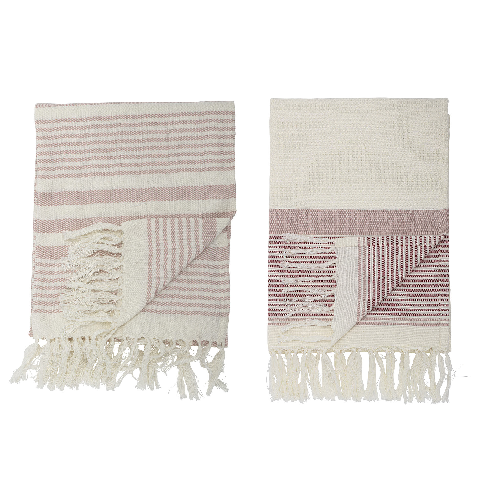 Billede af Loke håndklæde, rosa - 180x100 cm (2 stk)