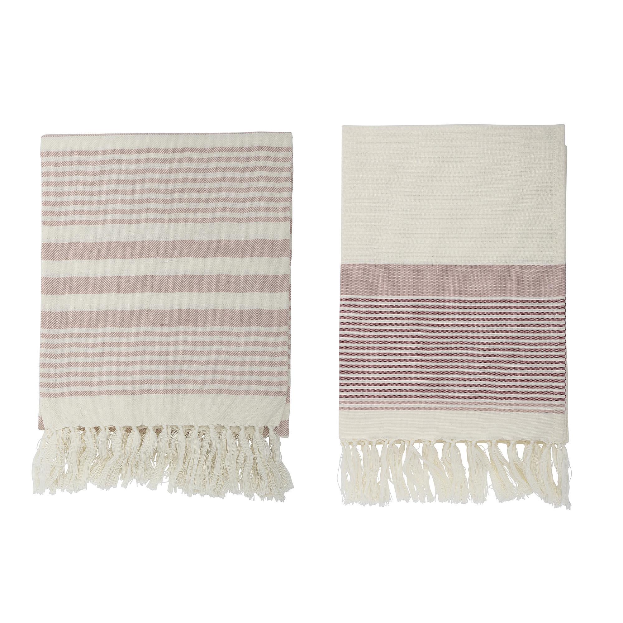 Billede af Loke håndklæde, rosa - 120x80 cm (2 stk)