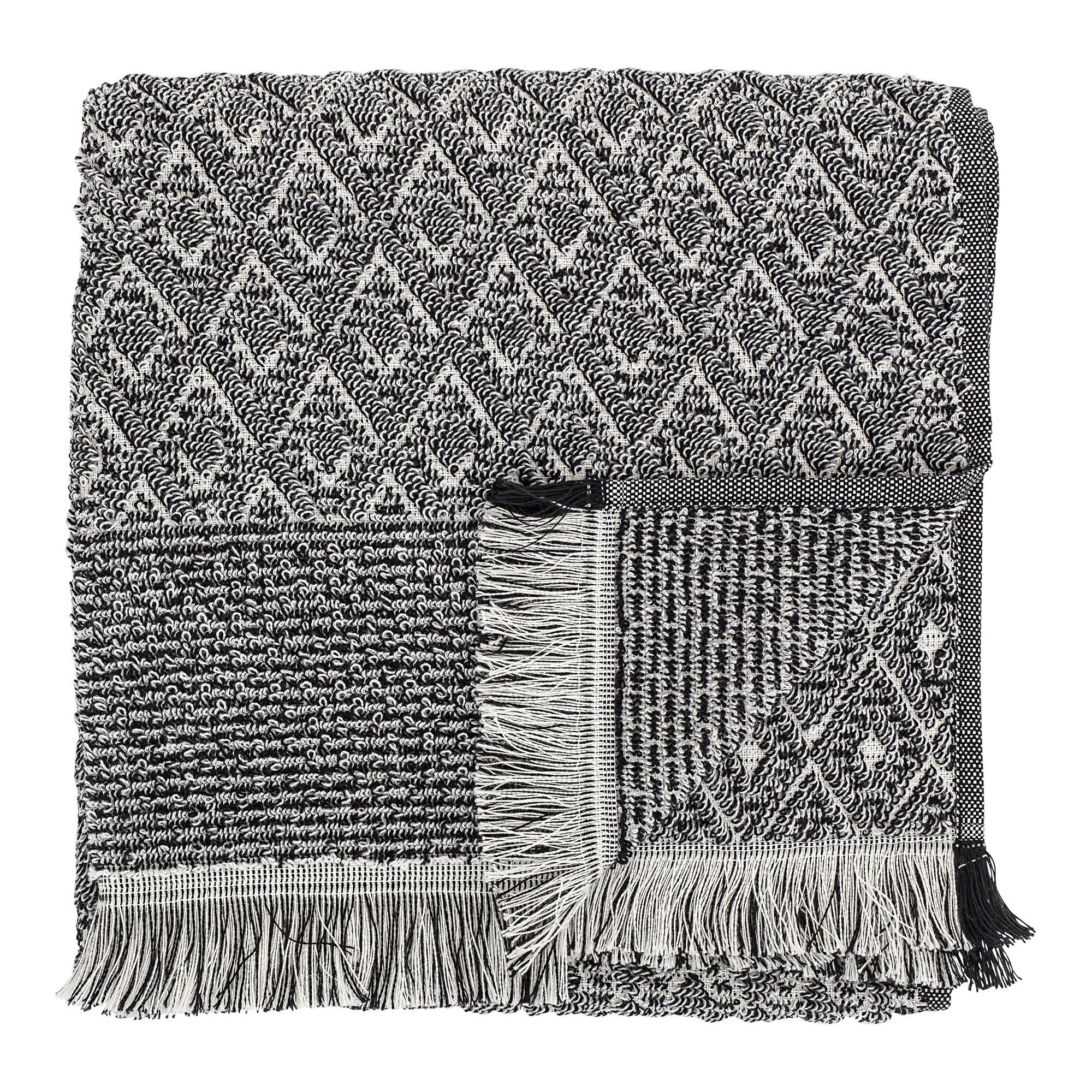 Billede af Håndklæde, Sort - 100x50 cm