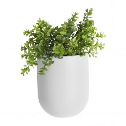 Væg blomsterkrukke. Hvid Oval fra Present Time.