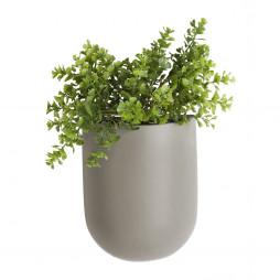 Væg blomsterkrukke. Grå Oval fra Present Time.