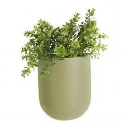 Væg blomsterkrukke. Olivengrøn Oval fra Present Time.