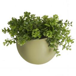 Væg blomsterkrukke. Olivengrøn Globe fra Present Time.