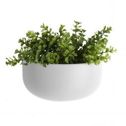 Væg blomsterkrukke. Oval Wide hvid fra Present Time.