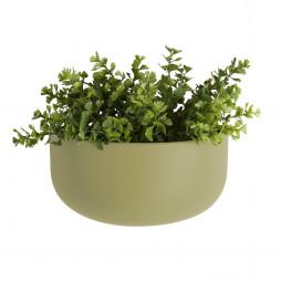 Væg blomsterkrukke. Oval Wide olivengrøn fra Present Time.