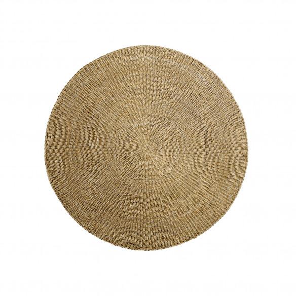 'Acen' tæppe, lille (Ø120 cm) i søgræs fra danske Bloomingville.